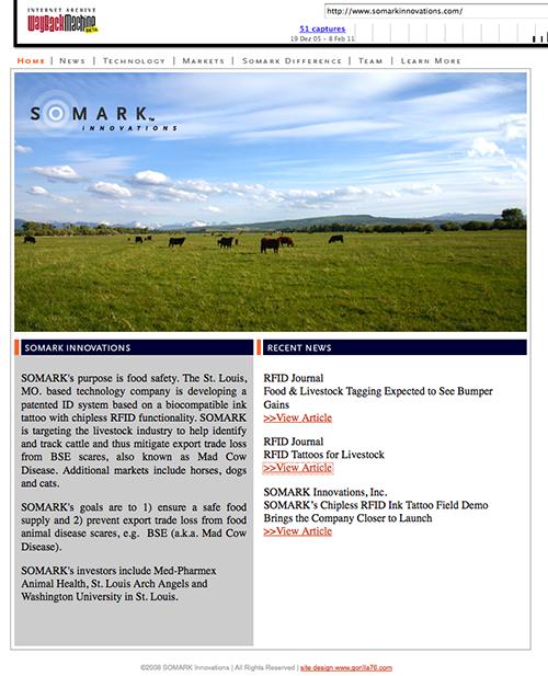 Somark Webseite 2008
